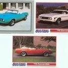 1973 73 FORD MUSTANG CONVERTIBLE TRADING CAR CARDS COLLECTOR COLLECTIBLE