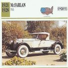1926 26 MCFARLAN TV6 (TWIN VALVE SIX) ROADSTER COLLECTOR COLLECTIBLE