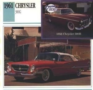 1961 61 CHRYSLER 300G COLLECTOR COLLECTIBLE