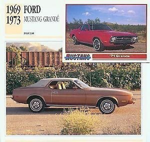 1969 69 1970 1971 71 1972 72 1973 73 FORD MUSTANG GRANDE COLLECTOR COLLECTIBLE