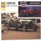 1932 32 CHRYSLER SERIES CI ROADSTER COLLECTOR COLLECTIBLE