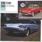 1958 58 1959 59 FORD THUNDERBIRD T BIRD COLLECTOR COLLECTIBLE