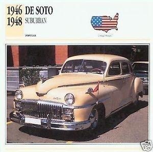 1946 46 1947 47 1948 48 DESOTO DE SOTO SUBURBAN COLLECTOR COLLECTIBLE