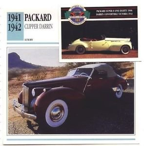 1941 41 1942 42 PACKARD CLIPPER DARRIN CONVERTIBLE COLLECTOR COLLECTIBLE