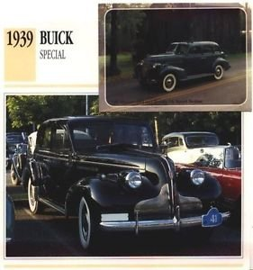 1939 39 BUICK SPECIAL TOURING SEDAN COLLECTOR COLLECTIBLE