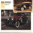 1931 31 PONTIAC SERIES 401 COLLECTOR COLLECTIBLE