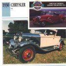 1930 30 CHRYSLER 77 COLLECTOR COLLECTIBLE