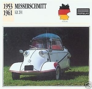 1953 54 55 56 57 58 59 1960 1961 MESSERSCHMITT KABINENROLLER KR 200 COLLECTOR