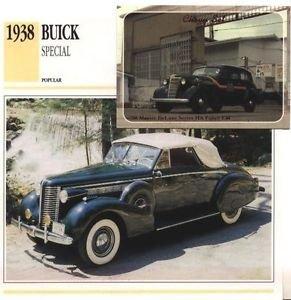 1938 38 BUICK SPECIAL CONVERTIBLE COUPE COLLECTOR COLLECTIBLE