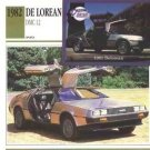 1981 81 1982 82 DE LOREAN DELOREAN DMC 12 COLLECTOR COLLECTIBLE