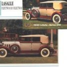 1930 30 LASALLE FLEETWOOD FLEETWAY SERIES 340 COLLECTIBLE COLLECTOR