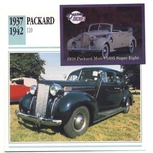 1937 37 1938 38 1939 39 1940 40 1941 1942 42 PACKARD 110 COLLECTOR COLLECTIBLE
