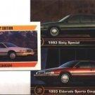 1993 CADILLAC ELDORADO SPORTS COUPE 93 SIXTY SPECIAL COLLECTOR COLLECTIBLE