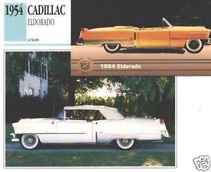 1954 54 CADILLAC ELDORADO COLLECTOR COLLECTIBLE COLLECTOR