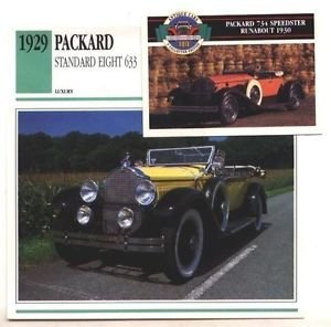 1929 29 PACKARD STANDARD EIGHT 633 PHAETON COLLECTOR COLLECTIBLE