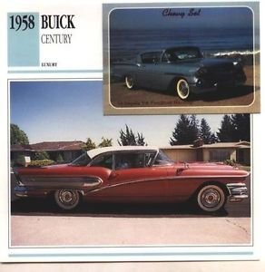 1958 58 BUICK CENTURY COLLECTOR COLLECTIBLE