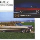 1961 61 1962 62 CADILLAC SERIES 62 SIXTY TWO CONVERTIBLE COLLECTIBLE COLLECTOR