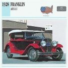 1928 28 FRANKLIN AIRMAN COLLECTOR COLLECTIBLE