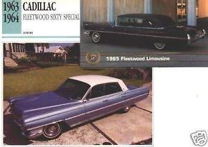 1963 63 1965 CADILLAC FLEETWOOD SIXTY SPECIAL ELDORADO COLLECTOR COLLECTIBLE