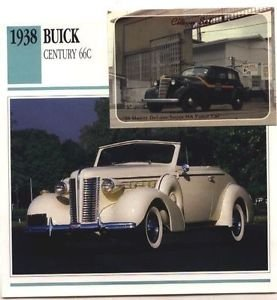 1938 38 BUICK CENTURY 66C COLLECTOR COLLECTIBLE