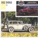1932 32 DODGE SIX DL SERIES FOUR DOOR SEDAN COLLECTOR COLLECTIBLE