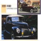 1939 39 FORD CONVERTIBLE COUPE COLLECTOR COLLECTIBLE