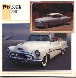 1953 53 BUICK SUPER CONVERTIBLE COLLECTOR COLLECTIBLE