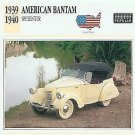 1939 39 1940 40 AMERICAN BANTAM SPEEDSTER COLLECTOR COLLECTIBLE