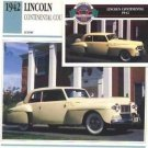 1942 42 LINCOLN CONTINENTAL COUPE COLLECTOR COLLECTIBLE