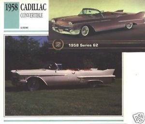 1958 58 CADILLAC CONVERTIBLE COLLECTOR COLLECTIBLE