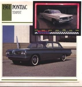 1961 61 PONTIAC TEMPEST COLLECTOR COLLECTIBLE