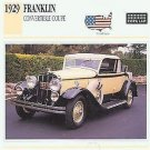 1929 29 FRANKLIN CONVERTIBLE COUPE COLLECTOR COLLECTIBLE