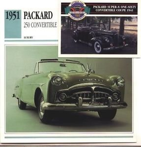 1951 51 PACKARD 250 CONVERTIBLE COLLECTOR COLLECTIBLE