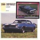 1968 68 CHEVROLET CHEVY CAMARO COLLECTOR COLLECTIBLE