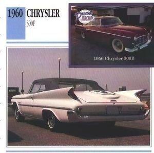 1960 60 CHRYSLER 300 F COLLECTOR COLLECTIBLE