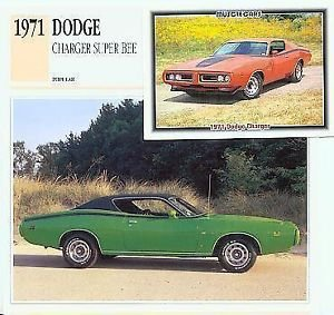 1971 71 DODGE CHARGER SUPER BEE SUPERBEE MOPAR COLLECTOR COLLECTIBLE