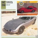 1967 67 1968 68 1969 69 TOYOTA 2000 GT COLLECTOR COLLECTIBLE