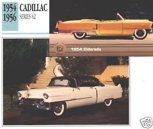 1954 54 CADILLAC SERIES 62 SIXTY TWO ELDORADO COLLECTOR COLLECTIBLE