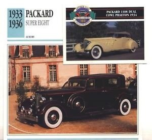 1933 33 34 1935 35 36 PACKARD SUPER EIGHT COLLECTOR COLLECTIBLE