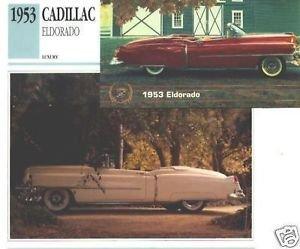 1953 53 CADILLAC ELDORADO COLLECTOR COLLECTIBLE COLLECTOR