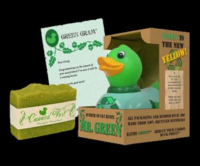 Bath duck with soap - gift set