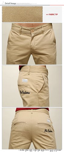 2504100010 Mens casual middle pants