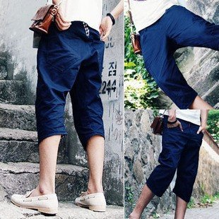 2504100029 Mens denim middle pants