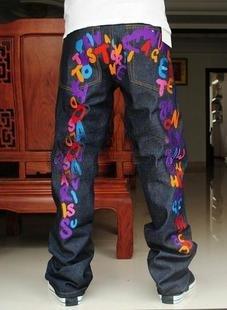 2604100001 Mens overprint jeans