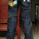 2604100002 Mens print jeans