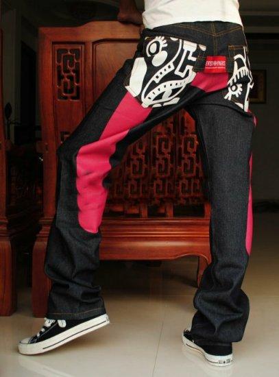 2604100007 Mens print jeans