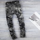 2604100038 Mens texture Black denim pants