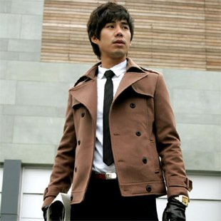2804100086 Mens casual double jacket