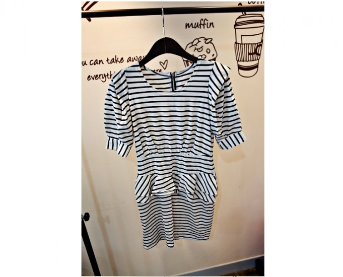 0805100026 lady casual short sleeve one piece