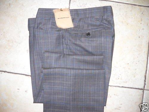 JOHN VARVATOS Mens Flat Front Wool Dress Pants BNWT 34